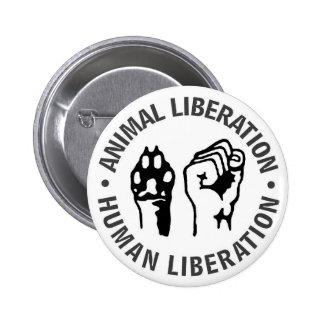 Libération animale et humaine badges