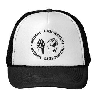 Libération animale - libération humaine casquettes de camionneur