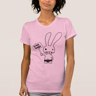 libérez le lapin d'étreintes t-shirts