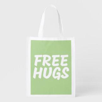 Libérez le sac réutilisable d'étreintes cabas épicerie