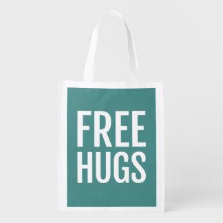 Libérez le sac réutilisable d'étreintes sac d'épicerie