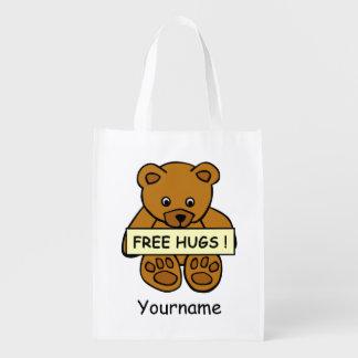 Libérez le sac réutilisable fait sur commande de sacs d'épicerie