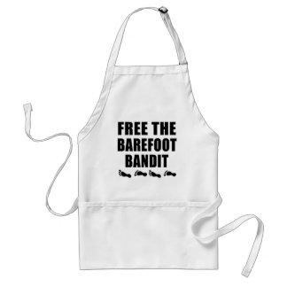 Libérez les T-shirts aux pieds nus de bandit Tablier