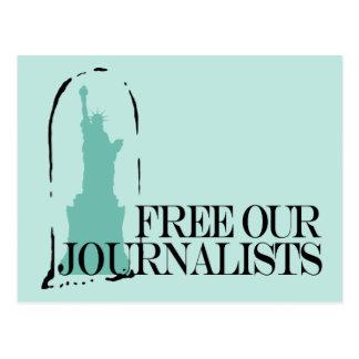 Libérez nos journalistes carte postale