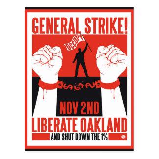 Libérez Oakland occupent l'insecte de protestation Cartes Postales