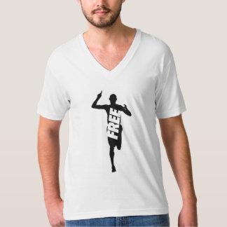 Libérez pour courir l'amende américaine Jersey de T-shirt