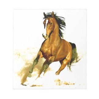 Liberté - cheval fonctionnant blocs notes
