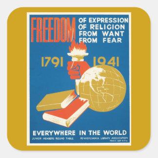Liberté d expression autocollants carrés