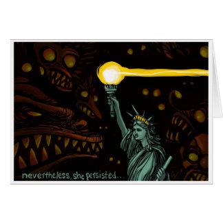 Liberté dans l'obscurité : Néanmoins elle a Carte De Vœux
