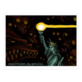 Liberté dans l'obscurité, néanmoins elle a carte postale