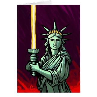 Liberté de Lightsaber Carte De Vœux