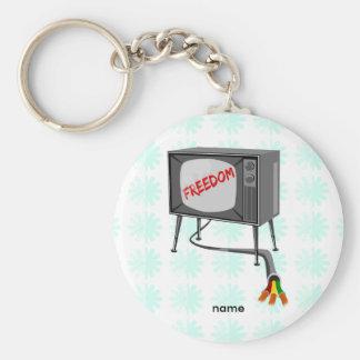 Liberté de télévision porte-clé rond