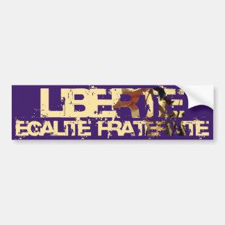 LIberte Egalite Fraternite ! Révolution française  Autocollant Pour Voiture
