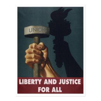 Liberté et justice pour tous -- Carte postale de