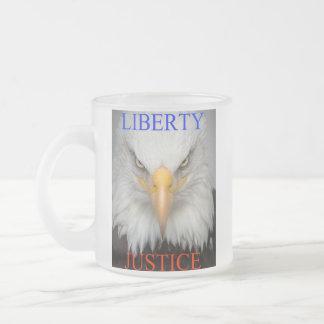 Liberté et justice tasse givré