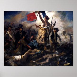 Liberté menant les personnes -- Révolution françai Posters