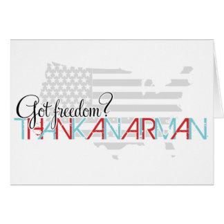 Liberté obtenue ? Remerciez un aviateur Carte De Vœux