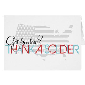 Liberté obtenue ? Remerciez un soldat Carte De Vœux