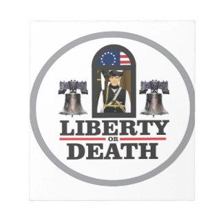 liberté ou mort bloc-note