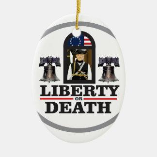 liberté ou mort ornement ovale en céramique