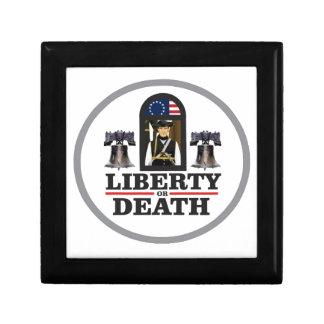 liberté ou mort petite boîte à bijoux carrée
