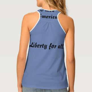 Liberté pour tous amour Amérique d'I Débardeur