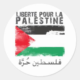 Liberté versent la La Palestine (le hurra de Autocollants Ronds
