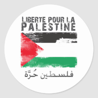 Liberté versent la La Palestine (le hurra de Adhésif Rond