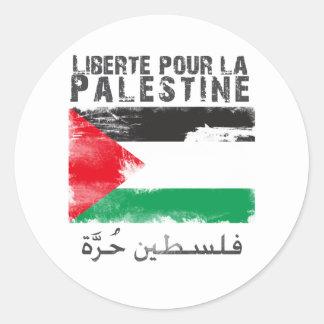 Liberté versent la La Palestine le hurra de filis Adhésif Rond