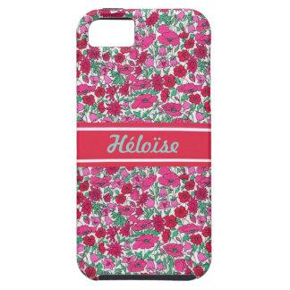Liberty fleur rose Prénom personnalisable Étuis iPhone 5
