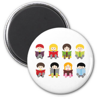 Library4 Magnet Rond 8 Cm