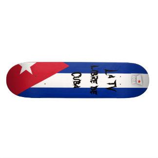 Libre De Cuba de la La TV de Q-BA TV Skateboard Customisable