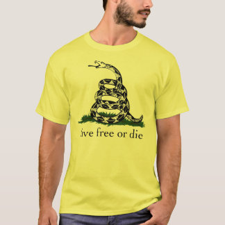 Libres vivants de drapeau de Gadsden ou meurent T-shirt