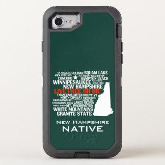 Libres vivants d'indigène du New Hampshire ou Coque Otterbox Defender Pour iPhone 7