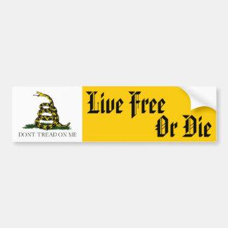 Libres vivants ou meurent autocollant de voiture