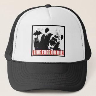 Libres vivants ou meurent casquette