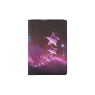 Licorne avec des étoiles protège-passeport