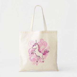 Licorne avec le sac d'arrière - plan de henné de c