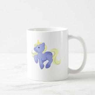 Licorne bleue et jaune mignonne mug