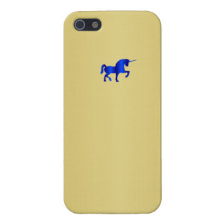 Licorne bleue sur le cas d'Iphone 5 de fine couche iPhone 5 Case