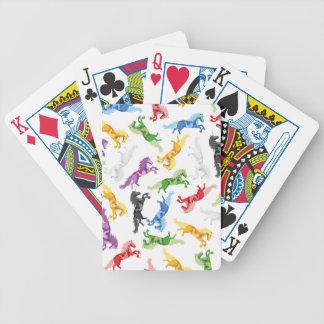 Licorne colorée de motif jeu de poker
