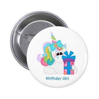 Licorne d'anniversaire (personnalisable) badge rond 5 cm