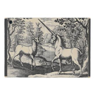 Licorne dans la forêt étuis iPad mini