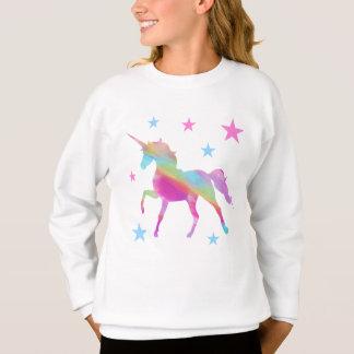 Licorne d'arc-en-ciel et sweatshirt d'étoiles