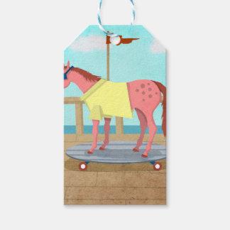 Licorne de balade d'été étiquettes-cadeau