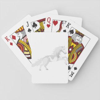 Licorne de blanc d'illustration cartes à jouer