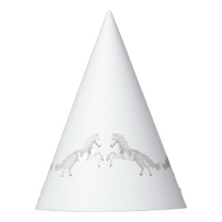 Licorne de blanc d'illustration chapeaux de fètes