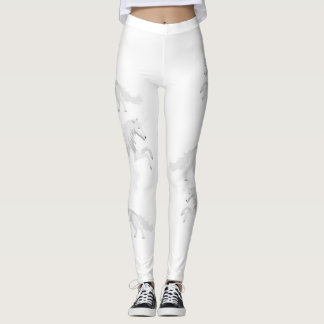 Licorne de blanc d'illustration leggings