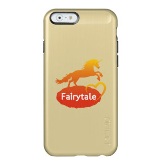 Licorne de conte de fées avec amour coque iPhone 6 incipio feather® shine