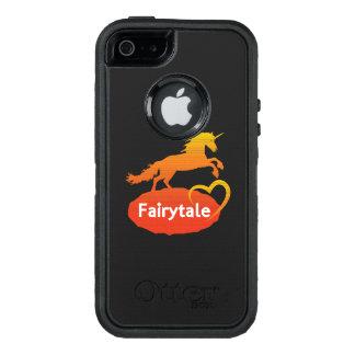 Licorne de conte de fées avec amour coque OtterBox iPhone 5, 5s et SE